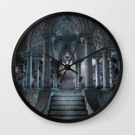 Gothic Mausoleum Wall Clock