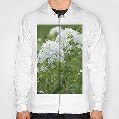 white flowers Hoody