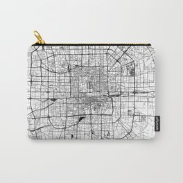 Beijing White Map Carry-All Pouch