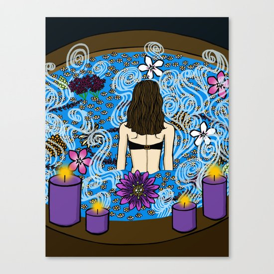 Hot Water:  Therapeutic Benefits of Soaking Canvas Print