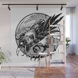 Noisy raven Wall Mural