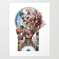 majora Art Prints featuring The song of Majora by Alejandra Vindas