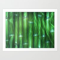 bamboo Art Prints featuring Bamboo by Digital-Art