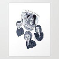 ripley Art Prints featuring Ripley by scoobtoobins