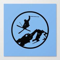 skiing 3 Canvas Print