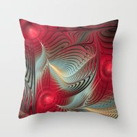 wallet Throw Pillows featuring Winter cheer by thea walstra
