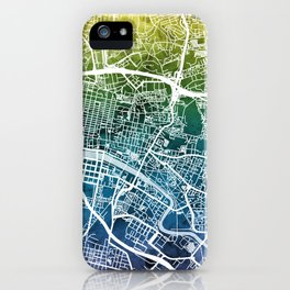 Glasgow Scotland Street Map iPhone Case