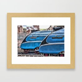 A4 Gresley Pacific Steam Locomotives on Shed Framed Art Print