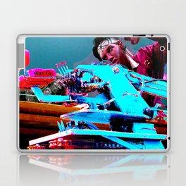 Quick!  Engage the Wax Machine! Laptop & iPad Skin