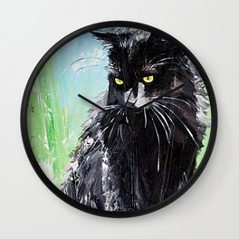 My little cat - kitty - animal - by LiliFlore Wall Clock