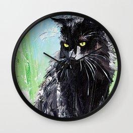 My little cat - kitty - animal - by LiliFlore Wall Clock