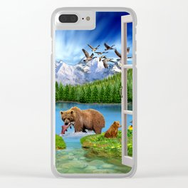 Window to the Great Bear Wilderness Clear iPhone Case