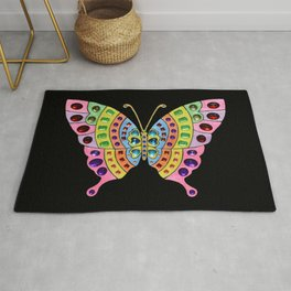 Jeweled Butterfly Rug