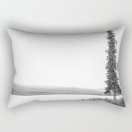 B&W Lone Spruce Tree Rectangular Pillow