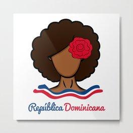 Dominican Afro Metal Print