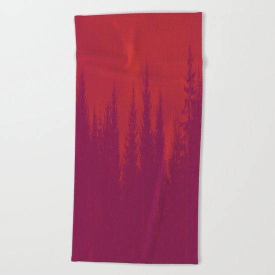 Purple Forest Beach Towel