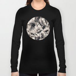 Sunflowers in Soft Sepia Long Sleeve T-shirt