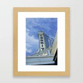 Cinema In Blue Framed Art Print