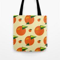 orange pattern Tote Bags featuring orange pattern by Avrora-slip