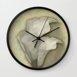 Lírio de Calla em Branco Wall Clock