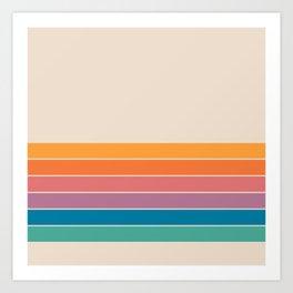Boca Spring Stripes Art Print