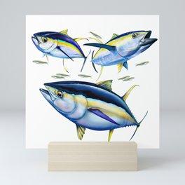 3 Yellowfin Tunas Mini Art Print