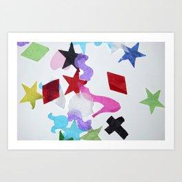 artRAVE confetti Art Print