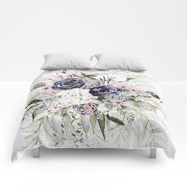 Purple Bouquet Comforters