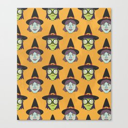 Good Witch VS Bad Witch (Patterns Please) Canvas Print