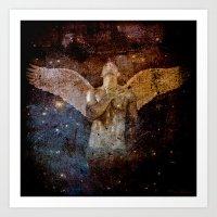 angel Art Prints featuring angel  by mark ashkenazi
