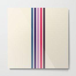 Five Hip Retro Stripes on White 17 Metal Print