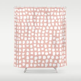 Dots / Pink Shower Curtain