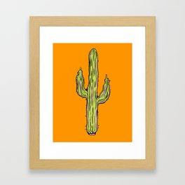 Hot Cacti Framed Art Print