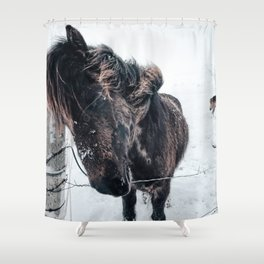 Icelandic Horses Shower Curtain