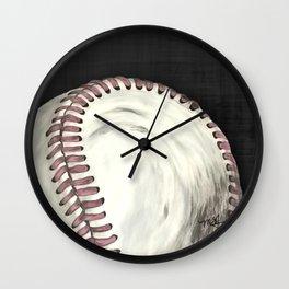 Vintage Baseball Art Wall Clock