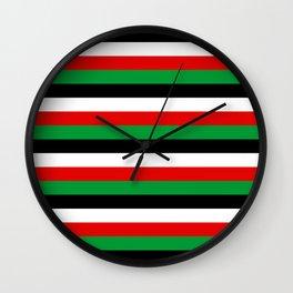 Kenya Jordan Iraq Kuwait flag stripes Wall Clock