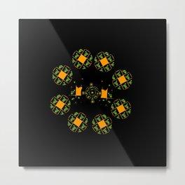Orange and Green Spaces 120 Metal Print