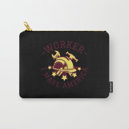 Construction Worker Patriotic Saying Carry-All Pouch