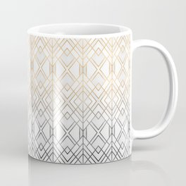Gold And Grey Geo Coffee Mug