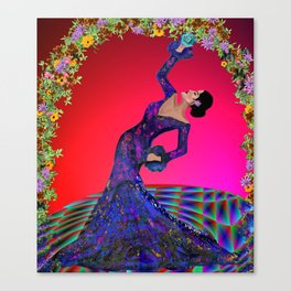 flamenco bend Canvas Print