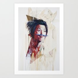 painting for Mustache Show, last Movember (untitled) Art Print