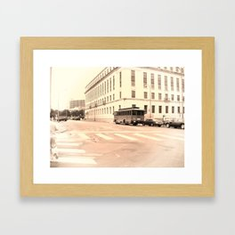 San Antonio Trolley Framed Art Print