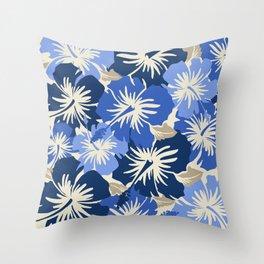 Epic Hibiscus Hawaiian Floral Aloha Shirt Print Throw Pillow