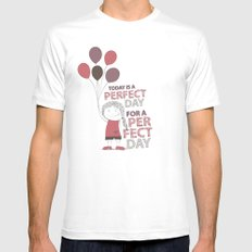 Perfect Day Mens Fitted Tee White MEDIUM