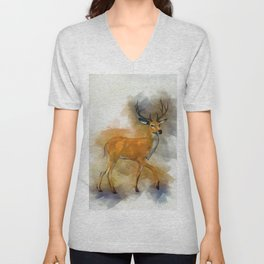 Deer Art Unisex V-Neck