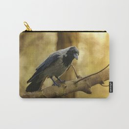 Crow on the branch Carry-All Pouch
