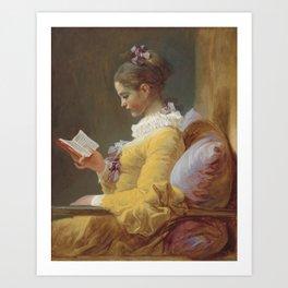 Jean Honoré Fragonard Young Girl Reading c. 1769 Painting Art Print