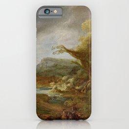 Stolen Art - Landscape with an Obelisk by Govert Flinck iPhone Case