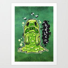 Cartoon Nausea Monster Art Print