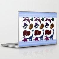 trex Laptop & iPad Skins featuring Dinosaur Cartoons by Cartoonasaurus